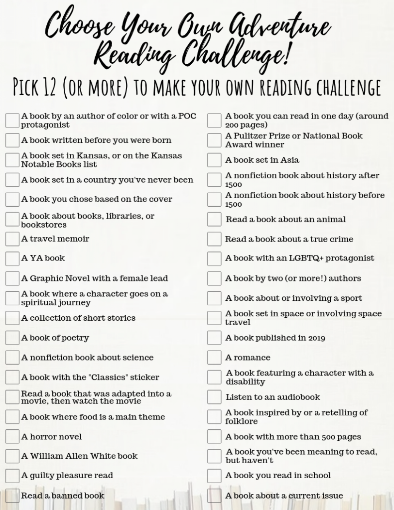 2019 Choose Your Own Adventure Reading Challenge