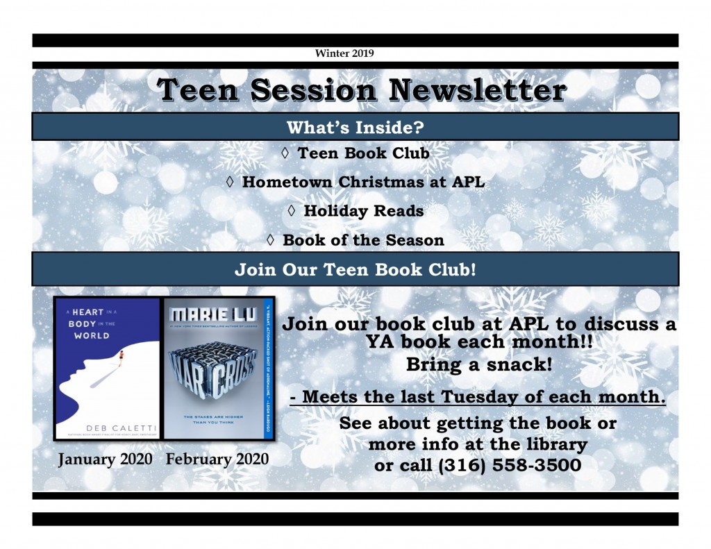 Winter 2019 Teen Newsletter