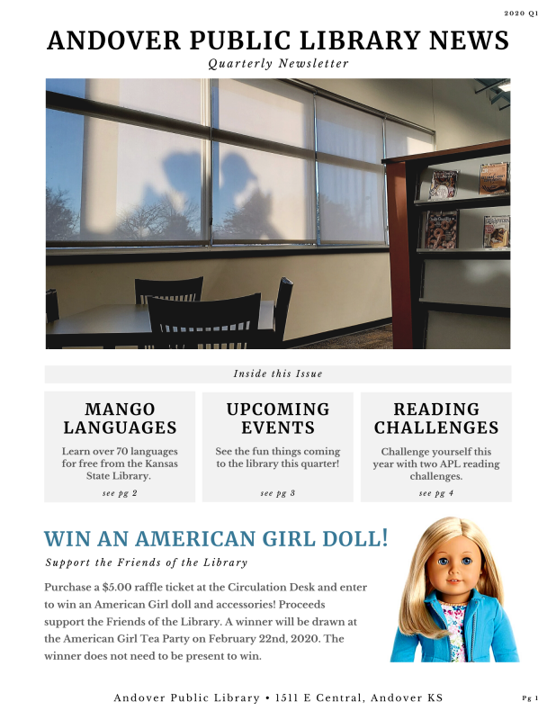 APL Newsletter 2020 Q1