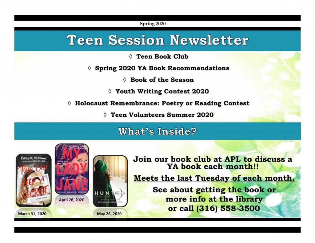 Spring 2020 Teen Newsletter